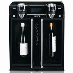 KRUPS JC200850 Wine Aerator and Dispenser, 2-Bottle, Black