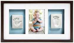 Pearhead Babyprints Deluxe Wall Frame for Making Your Baby's Print, Espresso