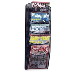 "Safco 5-Pocket Mesh Magazine Rack - Size: 10-1/4""x3-1/2""x28"""