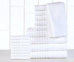 Casa Platino 18-Piece Egyptian-Cotton 600GSM Towel Set - White