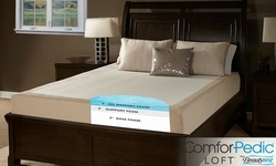 "ComforPedic Loft 1"" Gel Memory Foam Mattress Topper: Twin"
