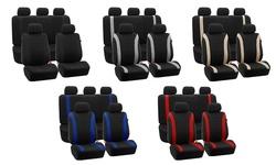 Cosmopolitan Flat Cloth Seat-cover Set: Black
