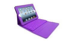 Portfolio-Style Bluetooth Keyboard Case for iPad 2/3/4 - Purple