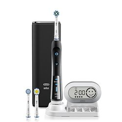 Black 7000 SmartSeries Electric Rechargeable Power Toothbrush Powered by Braun