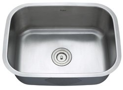 "KRAUS All-in-One Undermount Stainless Steel 23"" Single Bowl Kitchen Sink"