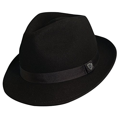 ... Dorfman Pacific Men s Wool Felt Snap Brim Hat - Black - Size  Medium ... 44348ce0d7b