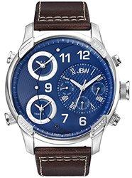 JBW Men's G4 Analog Display Swiss Quartz Brown Watch - Blue Face (J6248LN)