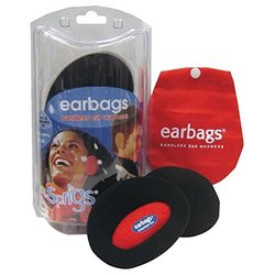 Earbags Bandless Fleece Ear Warmers,Medium,Black