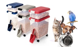 Pet Food Bins And Scoop: Red (3-pack)