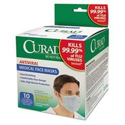 Curad Antiviral Medical Face Mask - 10-count