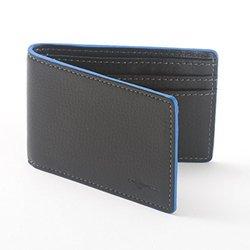 Buxton Men's Front Pocket RFID Slimfold Ink Edging Wallet - Black