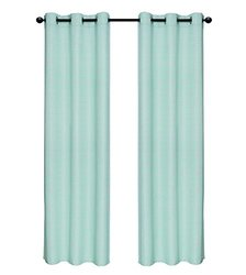 "Geo Links Faux Slub Window Panel Pair - Platinum - Size: 80""x84"""