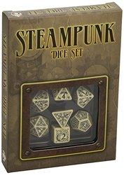 Steampunk Dice Beige/Black 7 Stk. Board Game