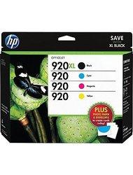 HP 920XL High Yield Ink Cartridges - 4-Pack - C/Y/M/B (D8J68FN#140)