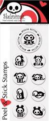 PSA Essentials Peel & Stick Stamps, Skelanimals Chip and Friends