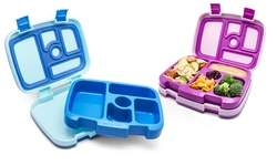 Set of 2 Bentgo Kids Lunch Boxes (Purple and Blue)