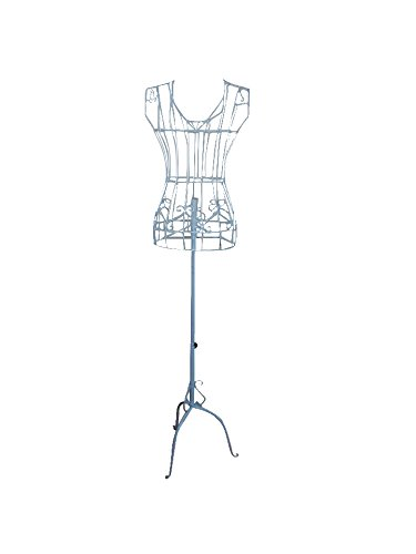 Female White Steel Wire Mannequin Dress Form 332233 On Decorative
