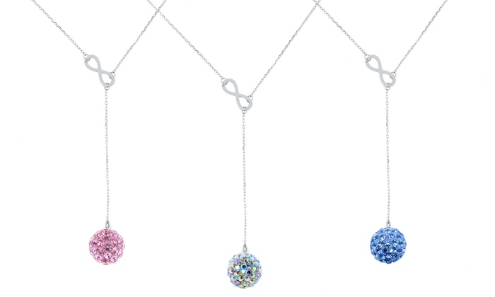 2d5eeae9b3632 Swarovski Elements SS Infinity Y Necklace: Crystal AB - Check Back Soon