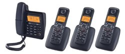 Motorola DECT 6.0 Enhanced Corded Phone with 3 Handsets (L704CM)