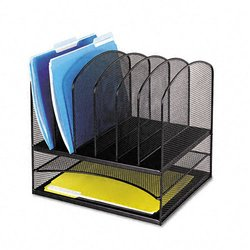 Safco Eight Sections Mesh Steel Desk Organizer