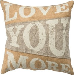 Primitives By Kathy Love You More Canvas Pillow