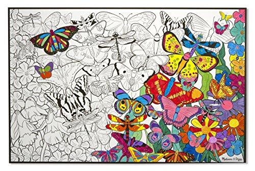 melissa doug jumbo color in poster butterflies - Melissa And Doug Coloring Book