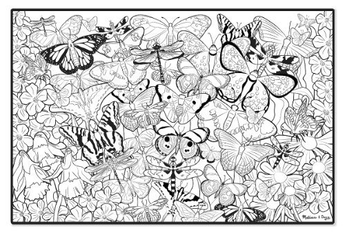 Melissa & Doug Jumbo Color-In Poster Butterflies - Check Back Soon ...