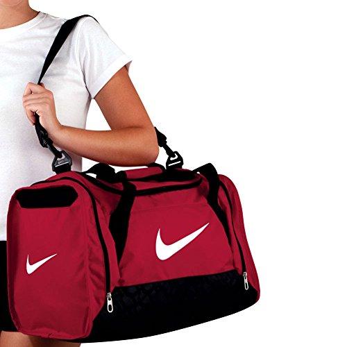 Nike Brasilia 6 Duffel Small Gym Red Black White Size Small - Check ... cf70e6fa77