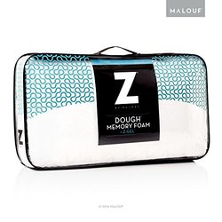 MALOUF Z Dough Memory Foam Liquid Z-Gel Pillow w/ Velour Cover - Standard