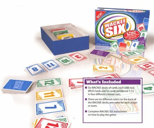 Wackee Six Party Card Game For 1 To 12 Players The Speed Solitaire