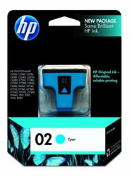 HP 02 Ink Cartridge in Retail Packaging-Cyan C8771WN#140/424