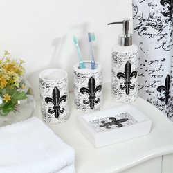 ... Indecor 18 Piece Fleur De Lis Bath Bundle Set ...