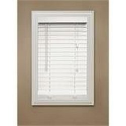 "Fauz Wood Blinds, 2"", White"