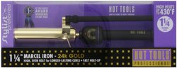 HOT TOOLS 1130 Marcel Curling Iron, Gold/Black, 1 1/4 Inches