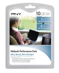 PNY 8GB Class4 Memory Card & 2GB DDR2 Memory Module (P-NB-SD8DDR2G-FS)