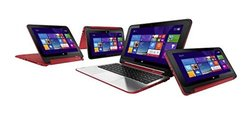 "HP X360 11.6"" 2-in-1 Touch Laptop 2.17GHz 4GB 500GB Win 8 - Red (HP 11-N)"