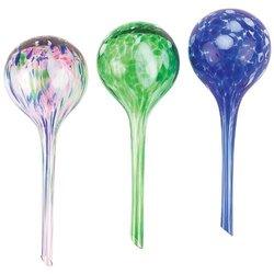 Hand Blown Glass Aqua Globes - Set of 3 (Blue, Green, White Blue)