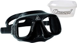 Cressi Low Volume Scuba Diving Mask for Free Diving - Black/Black