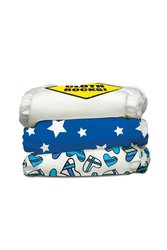 Charlie Banana 2-in-1 Reusable Diapering System, 3 Diapers plus 6 Inserts, Rock Star, One-Size