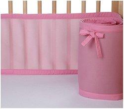 BreathableBaby Mesh Crib Liner - Pink Mist