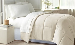 Wexley Home Down-Alternative Comforter - Ivory - Size: Full/Queen