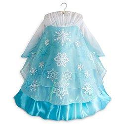 Disney Store Frozen Elsa Deluxe Costume (Medium 7/8, Blue)