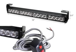 "Xprite 18"" 16 Led Emergency Warning Traffic Advisor Vehicle Led Strobe Light Bar - Red & Blue"