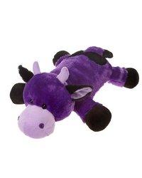 "Laydown Purple Cow Soft Plush Stuffed Animal Toy by Fiesta Toys - 24"""