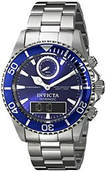 Invicta Men's Pro Diver Analog-Digital Display Swiss Watch - Silver