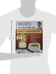 DR-HO's 2-In-1 Back Relief Belt, Size B: 42 - 55 Inch