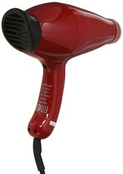 Turbo Power Mega Turbo 3000 Hair Dryer, Red