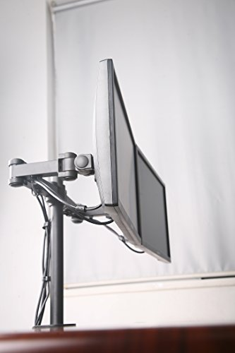 Dual Monitor Stand by NYCCO, Heavy Duty Desk Mount Fully