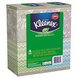Kleenex Lotion Facial Tissue Count of 75 - 4 Boxes Total