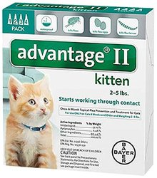 Bayer Advantage II, Kittens, 2 to 5-Pound, 4-Month